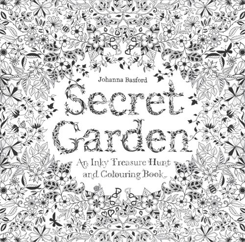 Adult Colouring Books Secret Garden An Inky Treasure Hunt Paperback