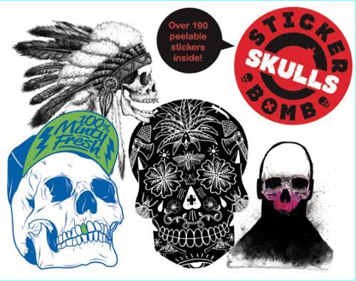 Stickerbomb Skulls (Paperback)