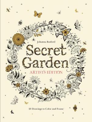 Secret Garden Artists Edition A Pull Out And Frame Colouring Book Paperback