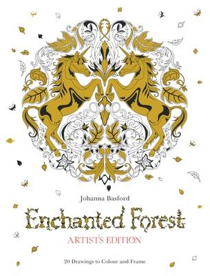 Enchanted Forest Artists Edition A Pull Out And Frame Colouring Book Paperback