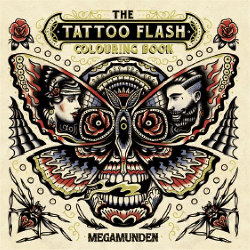 Tattoo Flash Colouring Book (Paperback)
