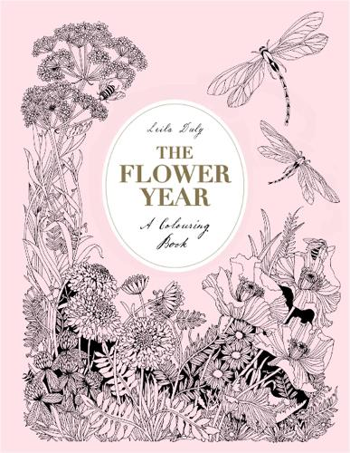 The Flower Year: A Colouring Book (Hardback)