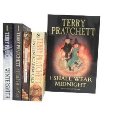 Terry Pratchett Series Collection Gift Set: I Shall Wear Midnight [hardcover], Unseen Academicals: a Discworld Novel, the Colour of Magic: a Discworld Novel, a Hat Full of Sky & Wintersmith: Discworld Novel (Paperback)