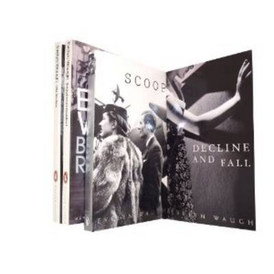 Evelyn Waugh 4 Books Collection Set: (Decline and Fall, Scoop: A Novel About Journalists, Brideshead Revisited & Vile Bodies) (Paperback)
