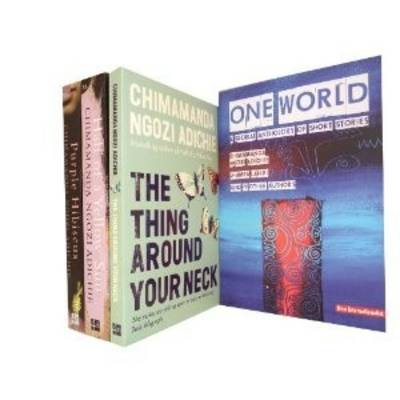 Chimamanda Ngozi Adichie Collection: Thing Around Your Neck, Half of a Yellow Sun, Purple Hibiscus, One World: a Global Anthology of Short Stories (Paperback)