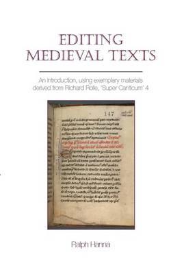 Editing Medieval Texts - Exeter Medieval Texts and Studies (Hardback)
