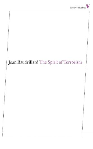 The Spirit of Terrorism - Radical Thinkers (Paperback)