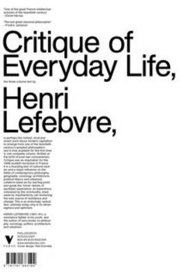 Critique of Everyday Life (Paperback)