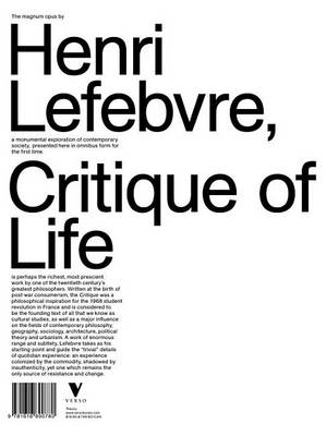 Critique of Everyday Life (Hardback)