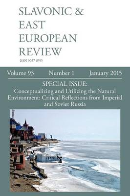 Slavonic & East European Review (93: 1) January 2015 (Paperback)