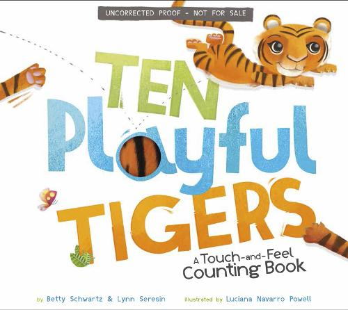 Ten Playful Tigers: A Back-and-Forth Counting Book - Back-and-Forth Books (Board book)