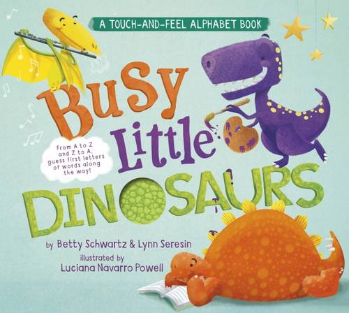 Busy Little Dinosaurs: A Back-and-Forth Alphabet Book - Back-and-Forth Books (Board book)