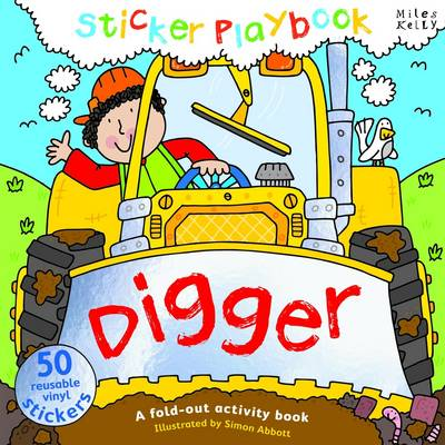 Digger Sticker Playbook - Playbooks (Spiral bound)