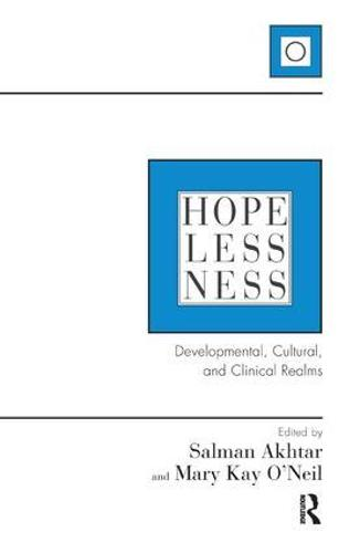 Hopelessness: Developmental, Cultural, and Clinical Realms (Paperback)