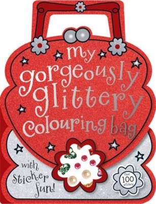 Gorgeously Glittery Shaped Colouring and Sticker Book (Paperback)