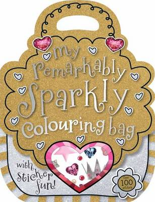 Remarkably Sparkly Shaped Colouring and Sticker Book (Paperback)
