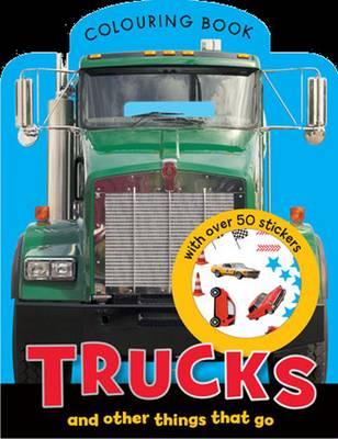 Trucks - Mini Colouring Books with Stickers (Paperback)