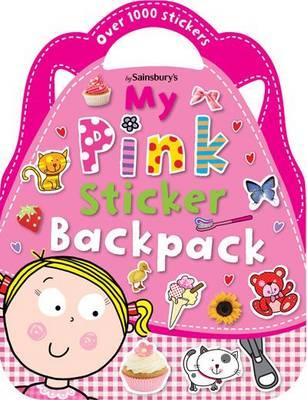 Pink Sticker Backpack - Shaped Sticker Books (Paperback)