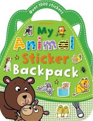 Animals Sticker Backpack - Shaped Sticker Books (Paperback)
