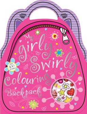Girly Swirly Shaped Colouring and Sticker Book (Paperback)