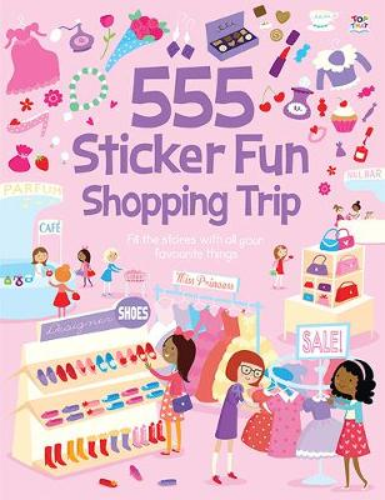 555 Sticker Fun Shopping Trip (Paperback)