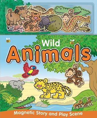 Wild Animals - Magnetic Story and Playscene Books