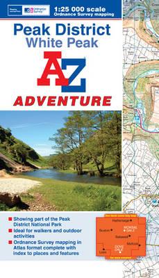Peak District (White) Adventure Atlas - A-Z Adventure Atlas (Paperback)