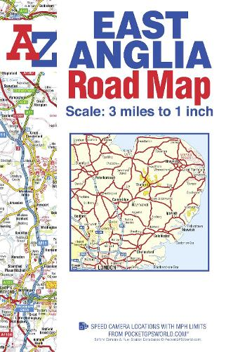 East Anglia Road Map - A-Z Road Map (Sheet map, folded)