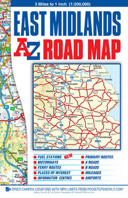 East Midlands Road Map - A-Z Road Map (Sheet map, folded)