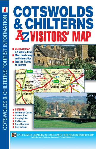 Cotswold & Chilterns Visitors Map by Geographers A-Z Map Co. Ltd. | on submarine map, meteorologist map, artist map, the national map, explorer map, ptolemy map,