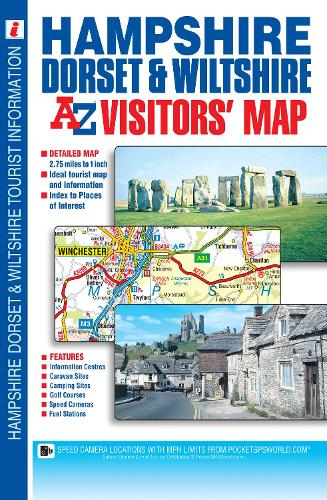 Hampshire, Dorset & Wiltshire Visitors Map (Sheet map, folded)