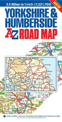Yorkshire & Humberside Road Map (Sheet map, folded)