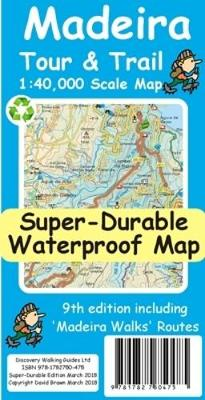 Madeira Tour & Trail Super-Durable Map (Paperback)