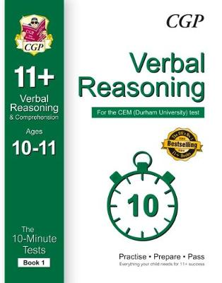 10-Minute Tests for 11+ Verbal Reasoning (Ages 10-11) - CEM Test (Paperback)