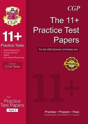 11+ Practice Papers for the CEM Test - Pack 3 (Paperback)
