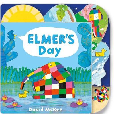 Elmer's Day: Tabbed Board Book - Elmer Picture Books (Board book)