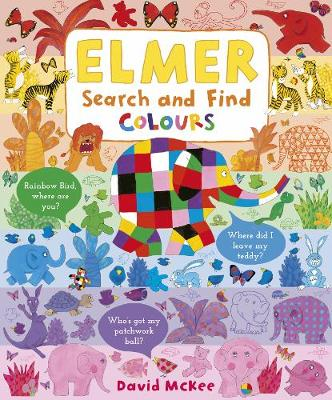 Elmer Search and Find Colours - Elmer Search and Find Adventures (Board book)