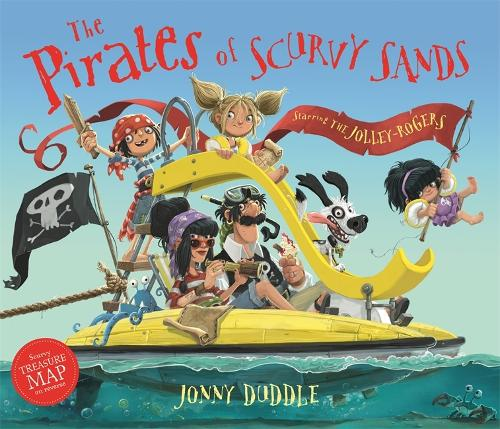 Cover of the book, The Pirates of Scurvy Sands (Jonny Duddle).