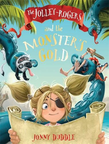 Cover of the book, The Jolly-Rogers and the Monster's Gold (Jolley Rogers 3).