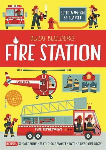 Busy Builders Fire Station - Busy Builders (Hardback)