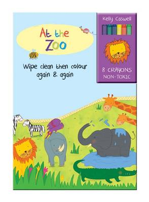 Colour Me Again and Again Book - At the Zoo - Colour Me Again and Again Book (Board book)