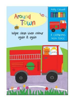 Colour Me Again and Again Book - Around Town - Colour Me Again and Again Book (Board book)