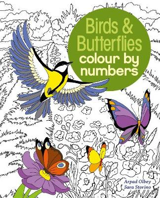 Birds & Butterflies Colour by Number (Paperback)