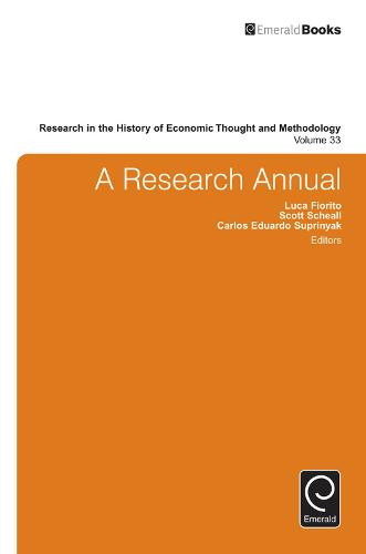 A Research Annual - Research in the History of Economic Thought and Methodology 33 (Hardback)