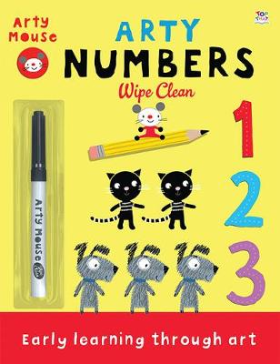 Arty Numbers - Arty Mouse Wipe Clean (Paperback)