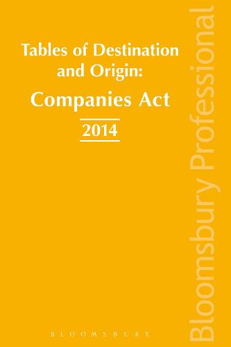Tables of Origins and Destinations: Companies Act 2014 (Paperback)
