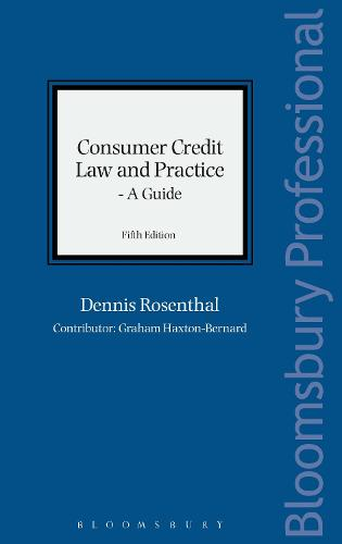 Consumer Credit Law and Practice - A Guide (Hardback)