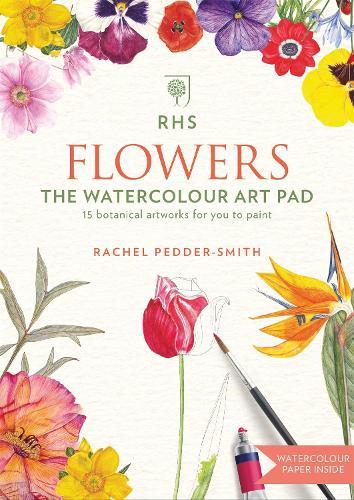 RHS Flowers The Watercolour Art Pad (Paperback)