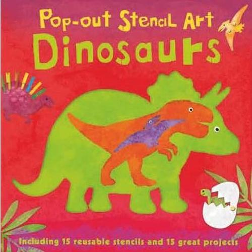 Pop-Out Stencil Art: Dinosaurs (Board book)