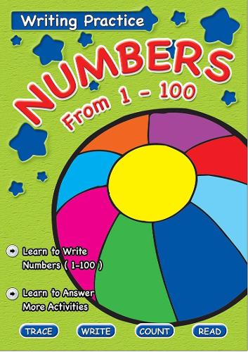 Writing Practice Book Numbers From 1 to 100 (Paperback)